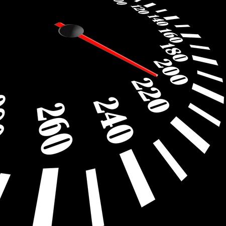 meter: black speedometer