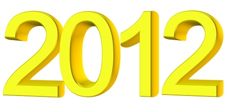 New year 2012, 3D text Stock Photo - 10925007