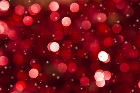 christmas sphere: Defocused abstract red christmas background