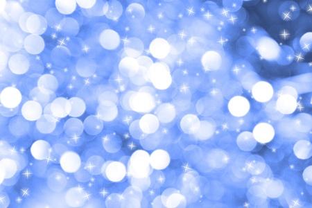 Sans mise au point abstrait bleu fond de Noël