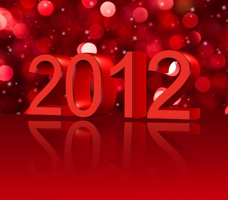 2012 New Year card Stock Photo