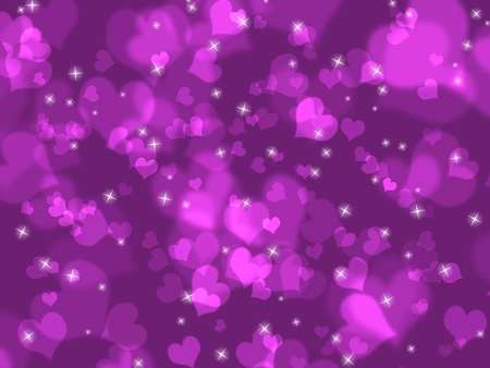 Defocused pink valentine day background photo