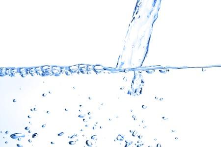 spews: Water splash isolated on white