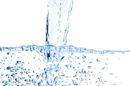 Water splash isolated on white Stock Photo - 12633614