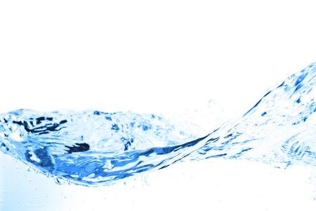 Water splash isolated on white Stock Photo - 12633604