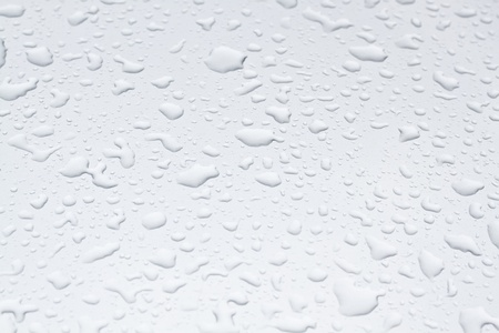 water drops on grey background Stock Photo