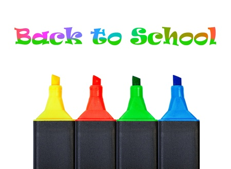 Multicolored Felt-Tip Pens on the White Background Stock Photo - 14403961
