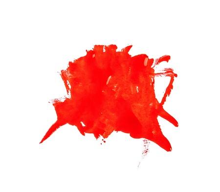 Nail polish drops set isolated on white photo