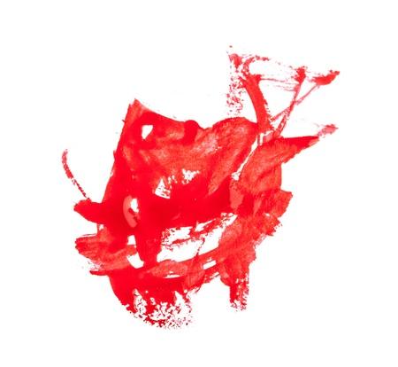 Nail polish drops set isolated on white Stock Photo