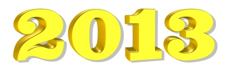 New year 2013, 3D text photo