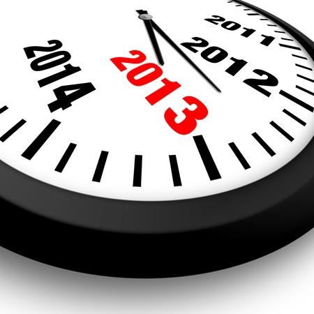 2013 新年時計 写真素材