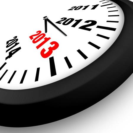 2013 Konzept Neues Jahr Uhr
