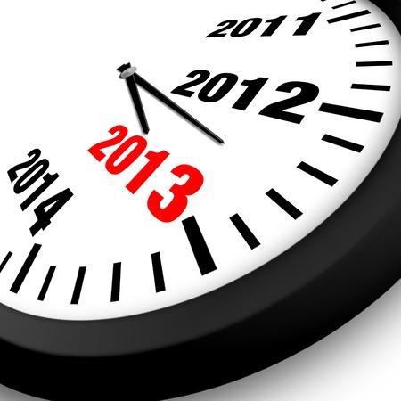 2013 Horloge Année Nouveau Concept Banque d'images