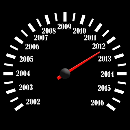 2013 year speedometer Stock Photo - 15119989
