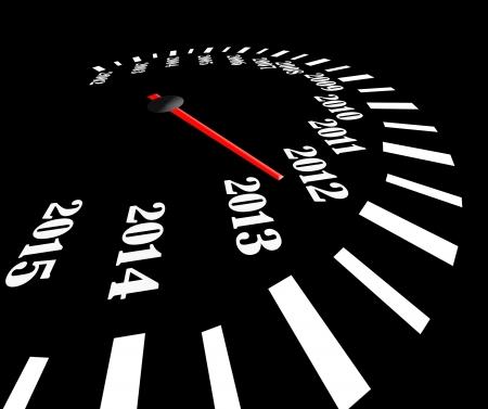 2013 year speedometer Stock Photo - 15119986