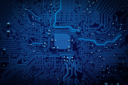 information design: Circuit board background