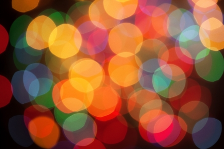Defocused abstract lights christmas background Stock Photo - 16453844