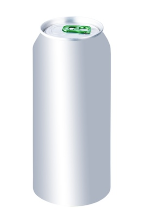 Beer can isolated on white background Stock Photo - 16565249