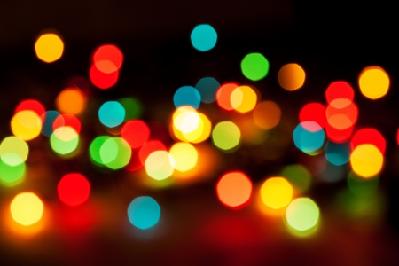 Defocused abstract lights christmas background photo