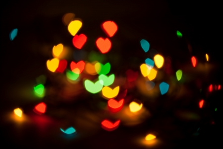 Defocused abstract lights background  photo