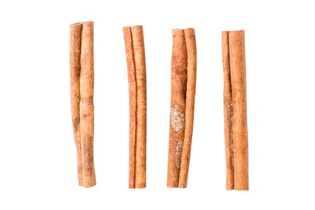 Cinnamon sticks isolated on white background photo