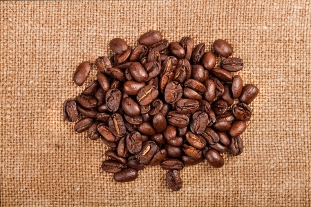 Coffee beans on vintage background Stock Photo - 17475263