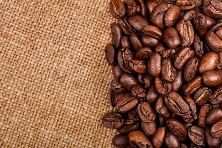 Coffee beans on vintage background Stock Photo - 17475256