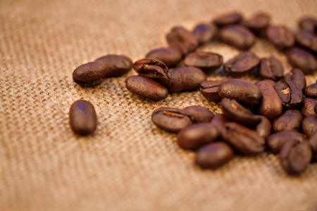Coffee beans on vintage background Stock Photo - 17475274