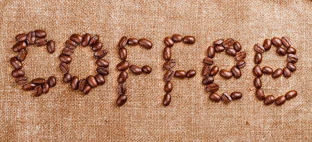 Coffee beans on vintage background Stock Photo - 17475295