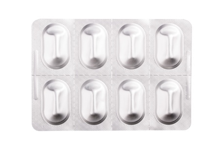 Packs of pills close up