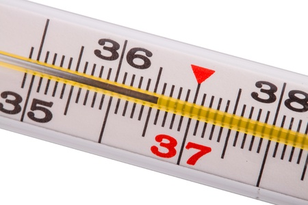 Thermometer isolated on the white background Stock Photo - 17475299