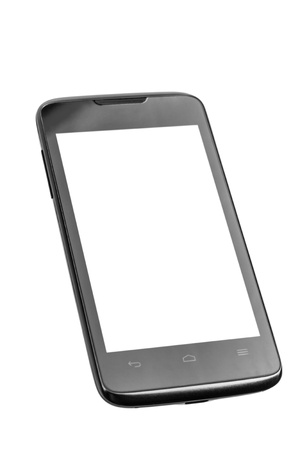 Mobile phone with blank screen isolated on white background Stock Photo - 17890674