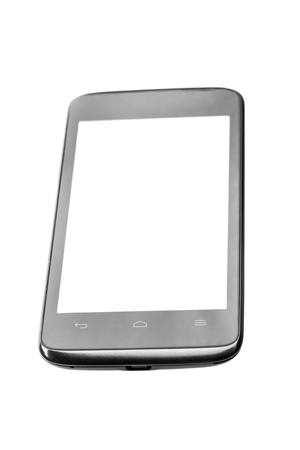 Mobile phone with blank screen isolated on white background Stock Photo - 17890676