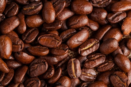 Brown coffee background  close-up  photo