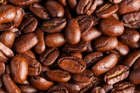 Brown coffee background  close-up  Stock Photo - 17890199