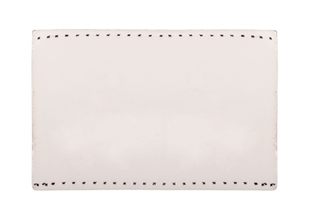 Close up of blank price label on white background Stock Photo - 17890620