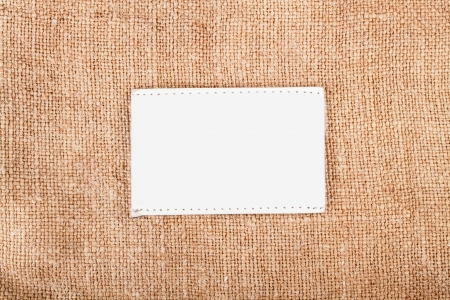 Background texture vintage burlap with label Stock Photo - 17890200