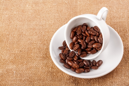 Coffee cup and beans Stock Photo - 17889765