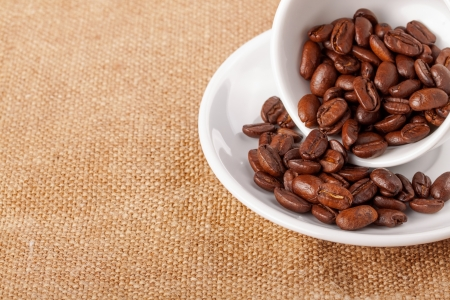 Coffee cup and beans photo