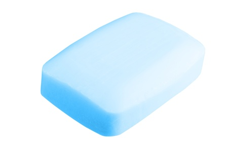 Close up of a hygiene soap on white background Stock Photo - 17890528