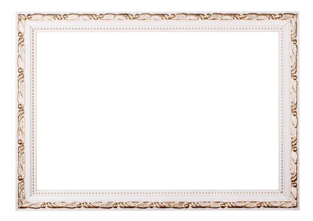 Vintage frame isolated on white background Stock Photo - 17890217