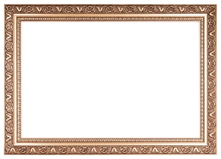 Vintage frame isolated on white background Stock Photo - 17890109
