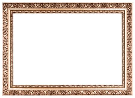 Vintage frame isoliert auf weißem Hintergrund