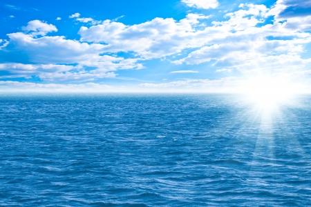 indian ocean: Perfect sky and water of ocean