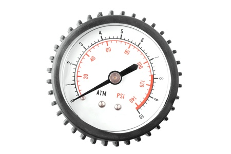 Manometer on white background photo