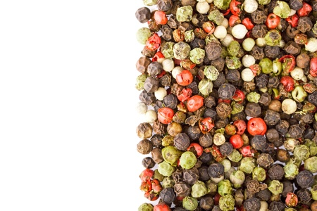 Colored Peppers Mix on the white background Stock Photo - 18678560