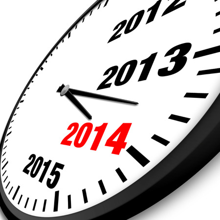 2014 New Year clock photo