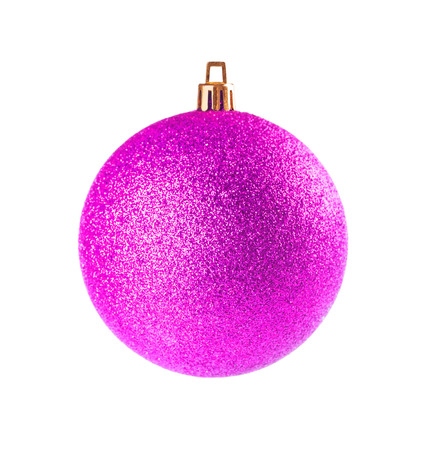 Pink Dull Christmas Ball On White Background Stock Photo, Picture ...