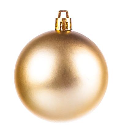 dull: Yellow dull christmas ball on white background