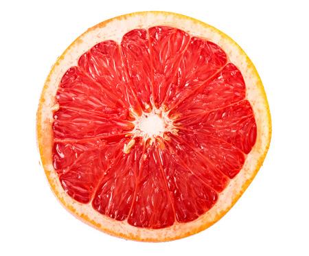 Rodaja de pomelo aisladas sobre fondo blanco Foto de archivo